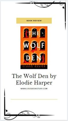 Check out my review for The Wolf Den on my blog! The story of an intelligent doctors daughter, sold into slavery as a whore and living a life she could never have imagined. Horrific, tragic, hopeful... a story of survival in a city where danger lurks around every corner.