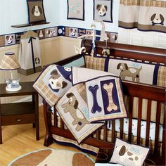 The Snickerdoodle Brody S Puppy Dog Nursery Baby Boy Bedding Rooms