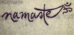 Yoga love. Namaste tattoo