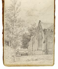 Stratford Church. Constable Sketchbook