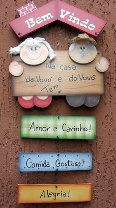 Diy Crafts For Gifts, Hobbies And Crafts, Crafts For Kids, Quotes Girlfriend, Grandparents Day Crafts, Illustrations And Posters, Natural Texture, Animals For Kids, Wooden Signs