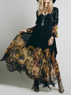 Elegant Chiffon Floral-Printed Ruched Maxi Dress