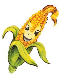Vintage anthropomorphic corn cob