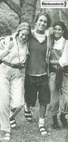 Tendencia nos anos 90 birkenstock .