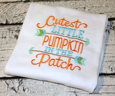 Cutest Pumpkin in the Patch Halloween Shirt, Boy's Pumpkin Shirt, Girl's Pumpkin…