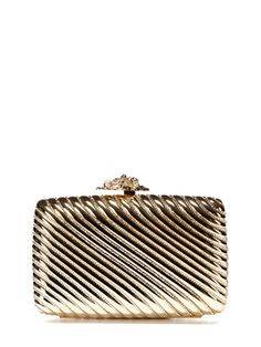 Judith Leiber Ribbed Rectangle Clutch