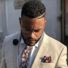 cut with a part and light colored suit Black Man Haircut Fade, Black Hair Cuts, Black Boys Haircuts, Cool Mens Haircuts, Fade Haircut, Modern Haircuts, African Men Hairstyles, Black Men Hairstyles, Boy Hairstyles