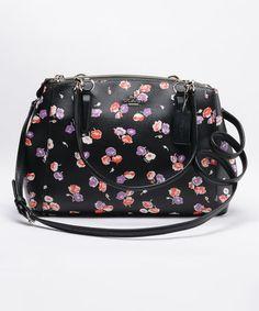 Love this Black Wildflower Small Christie Carryall on #zulily! #zulilyfinds