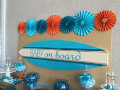 Surfer Boy - Baby on Board Baby Shower Party Ideas | Photo 1 of 10