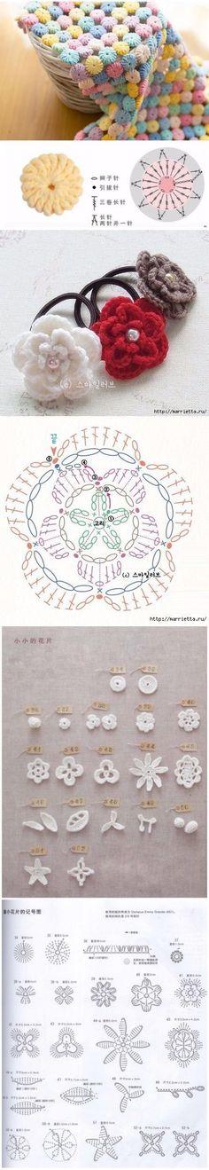 Схемы разных цветков