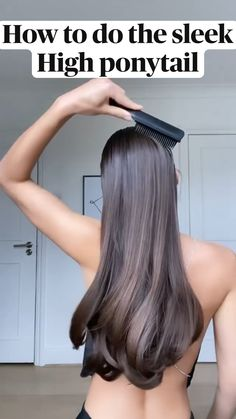 Hairdo For Long Hair, Long Hair Tips, Long Hair Video, High Ponytail Hairstyles, Cute Hairstyles, High Ponytails, Messy Ponytail, Medium Hair Styles, Short Hair Styles