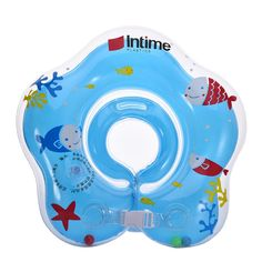 Activity & Gear Swimming Pool & Accessories Dependable Safety Baby Neck Float Swimming Newborn Baby Swimming Neck Ring With Pump Gift Mattress Cartoon Pool Swim Ring For 0-24 Months Quality And Quantity Assured