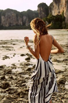 Love this open back maxi dress