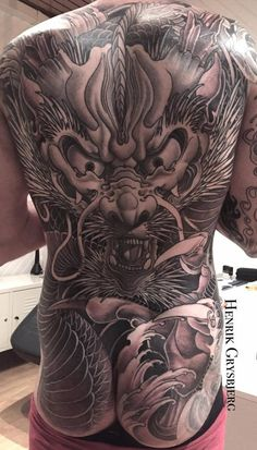 Full Body Tattoo, Body Art Tattoos, Hand Tattoos, Tatoos, Backpiece Tattoo, Hannya Mask Tattoo, Yakuza Tattoo, Japanese Dragon Tattoos, Japanese Tattoo Art