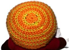 Thick & Thin Striped Beanie Orange And Yellow Size by amydscrochet, $7.00 #pcfteam