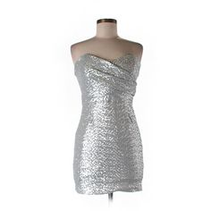 Pre-owned TFNC Cocktail Dress Size 12: Gray Women's Dresses ($19) ❤ liked on Polyvore featuring dresses, grey, pre owned dresses, tfnc dresses, gray cocktail dress, grey cocktail dress and tfnc