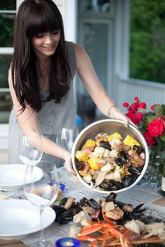 East Coast Seafood Boil: When the seafood hits the newspaper, you know all the work is worthwhile. Get the recipe on our blog.