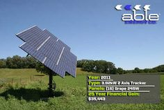 2 Axis Solar Electric System