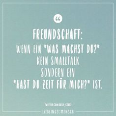"""Friendship: When a """"What are you doing?"""" No small talk but a """"Do you have time for me?"""" is - Visual Statements®️ Friendship: When a """"What are you doing?"""" No small talk but a """"Do you have ti - New Quotes, Lyric Quotes, Family Quotes, Happy Quotes, Love Quotes, Best Friends Funny, True Friends, The Words, Love Quote Tattoos"""