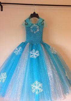 Elsa dress inspired glitter tutu dress by LittledreamsbyMayra, $50.00