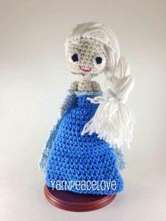 Frozen inspired Elsa The Snow Queen crochet doll by YarnPeaceLove #yarnpeacelove