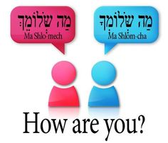 How are you in Hebrew... for male and female