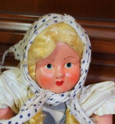 Handmade Mask Face Souvenir Cloth Doll from Poland by AmericanVintageAve on Etsy