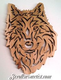 Scroll Saw Patterns :: Miscellaneous :: Tribal Style :: Tribal wolf -