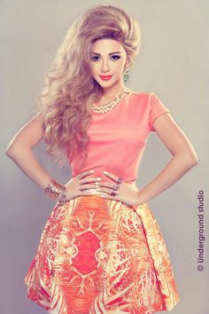 Myriam Fares            #beauty #curly #makeup #myriamfaris
