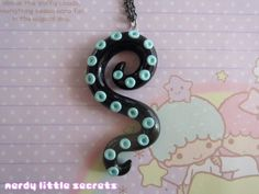 Pastel Goth Octopus Tentacle Necklace by NerdyLittleSecrets, $13.00