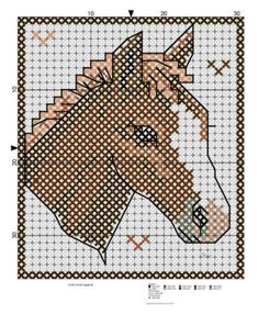 plastic canvas horse patterns