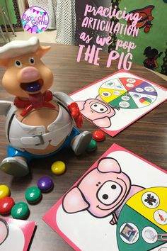 Use these spinners while you play Pop the Pig. Practice articulation and language targets.