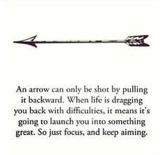 Especially good quote for an #archery lover like me! :)