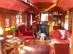 Oh I would love to live on a train car, especially one like this. http://www.roulottes.nl/index.html gypsy caravan