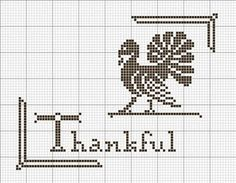 Thanksgiving Holiday Cross-Stitch Pattern By Betty Dekat of primitivebettys