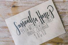 Wedding Envelope Lettering by MelanieStuartDesigns on Etsy