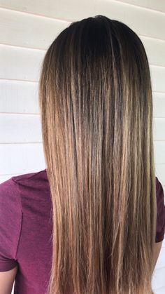 Warm balayage bronde balayage babylights teasylights Michigan hair blonde Asian hair long hair one length haircut jessica phillips Hair jessicaphillipshair hairvideos hairvideo haireducqtion