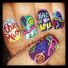 Saved By The Bell #nail #nails #nailart Amazing! Wish I had the patience for this much detail!