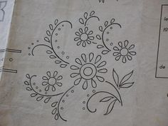 5 copies of 1950's French embroidery pattern by AtelierHope