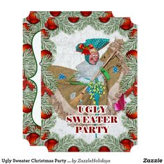 Ugly Sweater Christmas Party Invitation Ugly Sweater, Ugly Christmas Sweater, Holiday Parties, Holiday Fun, Happy Holidays, Christmas Holidays, Christmas Party Invitations, Colored Envelopes, Custom Invitations