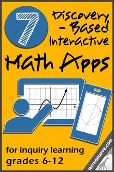 Inquiry / Discovery Apps for Exploring & Visualizing Math Concepts (Grades Math Tutor, Math Teacher, Math Classroom, Teaching Math, Math Education, Teacher Stuff, Teaching Ideas, Classroom Ideas, Teaching Supplies