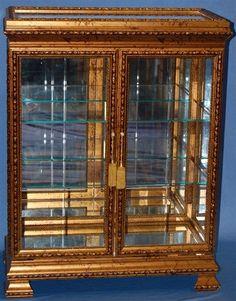 Dark Gold Curio Cabinet