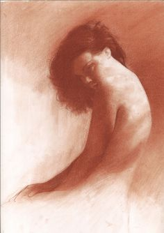 "Saatchi Online Artist: Patrick Palmer; Conte 2013 Drawing ""New Red Chalk """