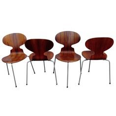 Arne Jacobsen Rosewood Dining Chairs