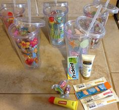 End of school year teacher appreciation gifts! Could use for kids too! Cups from Walmart $3