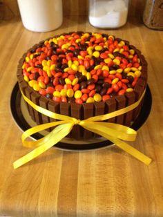 Roald Dahl's favorite a Kit Kat bar. Wonka cake for Louis