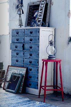 Cajonera de industrial de hierro :: Tiendas de decoracion   Decoracion rustica   Decoración online