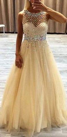 Beaded Prom Dress,Illusion ,Backless Fashion Prom Dress,Sexy Party