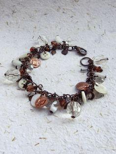 Pulseira Pingentes Cobre - Coppery Pendants Bracelet | Beat Bijou | Elo7