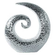 Urban Trends Ceramic Spiral Sculpture with Embossed Circle Design - 14875